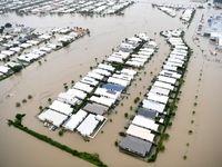 بزرگترین بندر استرالیا غرق شد! +تصاویر