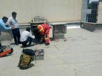 سارق خانه در کانال کولر گیر افتاد! +عکس