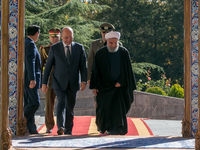 رییس جمهور ایران در استقبال همتای عراقی +تصاویر