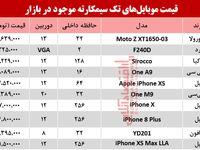 قیمت انواع موبایلهای تک سیمکارته در بازار؟ +جدول