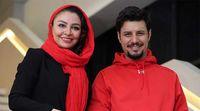 عکس یادگاری جواد عزتی و همسرش با شبنم قلیخانی +عکس