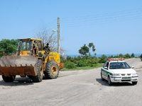 تخریب دیوارکشی غیرقانونی در شمال +عکس