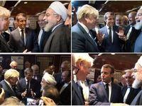 دیدار روحانی، ماکرون و جانسون در نیویورک +عکس