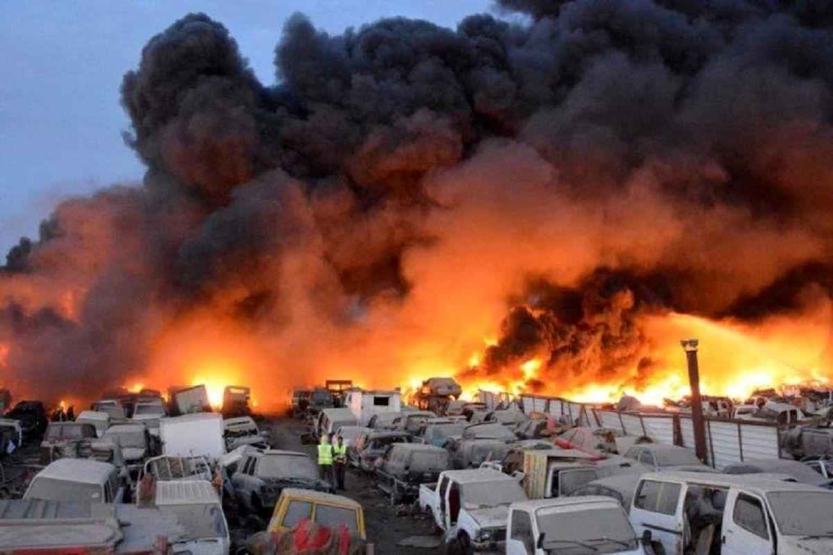 آتش سوزی گسترده خط لوله نفت در قاهره/ ١۴تن زخمی شدند