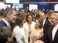 بازدید پادشاه و ملکه اسپانیا از غرفه ایران در نمایشگاه مادرید