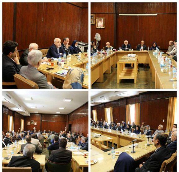 دیدار ظریف با اساتید و اعضای هیات علمی دانشکده حقوق