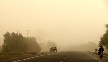 وزش باد و گردوخاک در شمال سیستان و بلوچستان