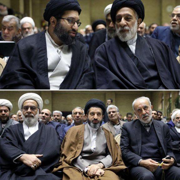 حضور فرزندان رهبر انقلاب در مجلس ختم عضو خبرگان