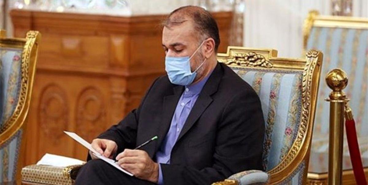 نخستین توییت امیر عبداللهیان در سمت وزیر خارجه ایران