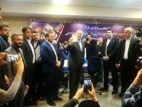 قالیباف برای نامنویسی وارد ستاد انتخابات کشور شد +عکس
