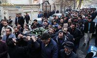 مراسم تشییع پیکر زهرا عبدالمحمدی خبرنگار فقید +عکس