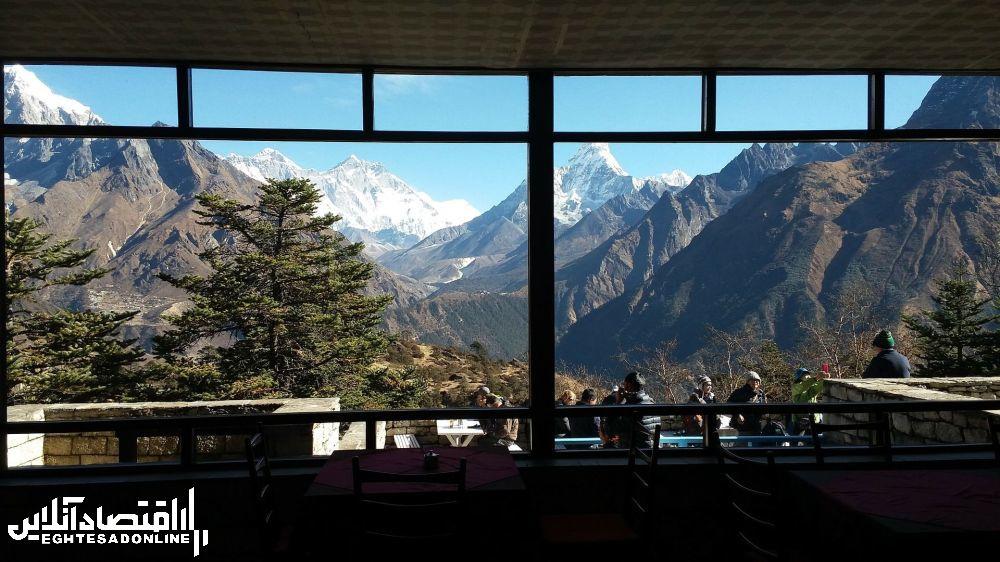منظره کوهستانی نپال.