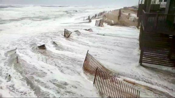 طوفان شدید فلورانس در آمریکا +فیلم