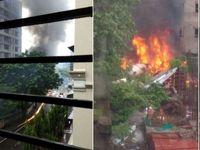یک هواپیما در حومه بمبئی سقوط کرد
