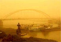 توده بزرگ گرد و غبار درحال ورود به خوزستان