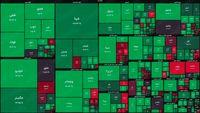 نقشه بورس امروز بر اساس ارزش معاملات/ وزش باد بهاری در بازار با وجود روزهای سخت پاییزی