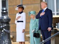 لباس ملانیا ترامپ در انگلیس +تصاویر