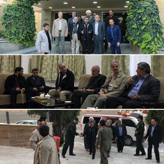 محمود احمدینژاد، به کرمانشاه رفت +عکس