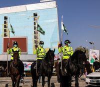 رژه یگان ویژه اسب سوار ناجا در خیابان ولیعصر +عکس