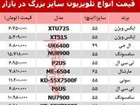 نرخ انواع تلویزیون 55اینچ و بزرگتر دربازار؟ +جدول