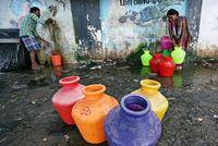 وضعیت خطرناک بیآبی در هند +تصاویر