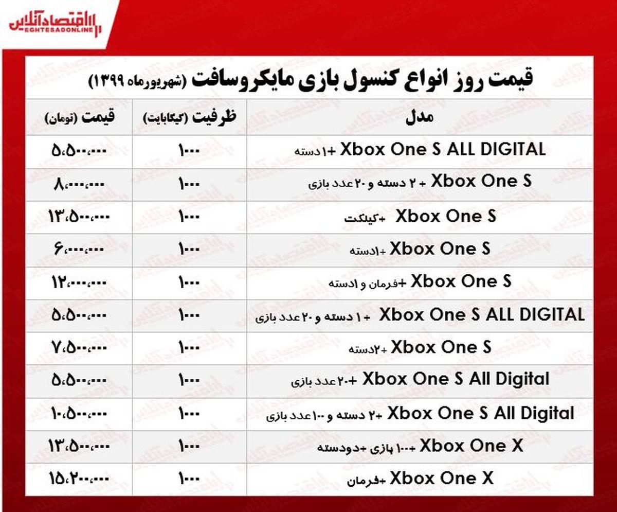 قیمت جدید Xbox ؟ +جدول