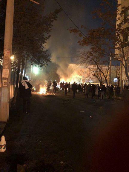 درگیری در خیابان پاسداران +فیلم
