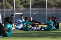 فضای شاد در تمرین تیم ملی فوتبال ایران +عکس