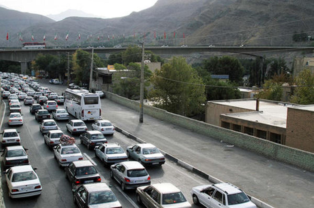 ترافیک سنگین در چالوس و آزادراه کرج-قزوین