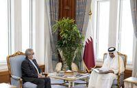 تحویل پیام رئیس جمهور ایران به امیر قطر