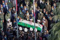 چه کسانی در تشییع شهید فخریزاده حضور داشتند +عکس