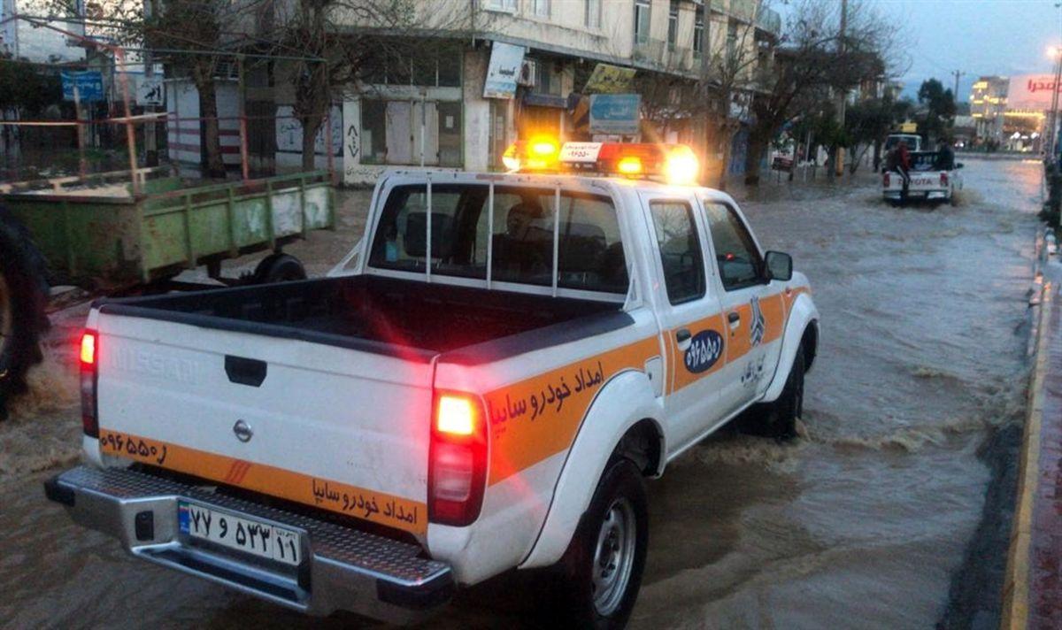 اعزام واحدهای امداد خودرو سایپا و نمایندگیهای گلستان و مازندران به مناطق سیلزده برای خدمترسانی