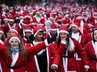 شرکت ۷هزار نفر در مسابقه دوی بابانوئل +تصاویر