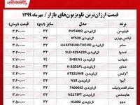 تلویزیون ارزان چند؟ +جدول