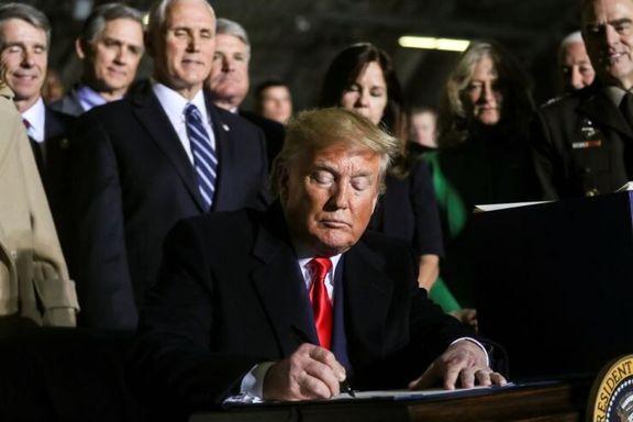ترامپ لایحه بودجه دفاعی آمریکا را امضا کرد
