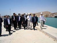 بازدید رحمانی از بندر پارسیان/ ایمیدرو اسکله شماره5 بندر پارسیان را به آلومینیوم جنوب اختصاص داده است