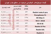 قیمت موبایلهای شیائومی در بازار +جدول
