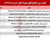 لیست قیمت روز گوشی اپل +جدول