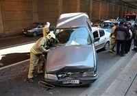 تصادف زنجیرهای در بزرگراه یادگار امام +عکس
