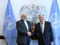 گفت وگوی ظریف با دبیرکل سازمان ملل