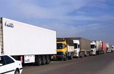 صف 6 کیلومتری کامیونها در شلمچه