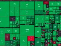 نقشه بورس امروز بر اساس ارزش معاملات/ سبزپوش شدن بازار سهام