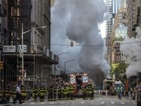 انفجار مهیب در نیویورک +تصاویر