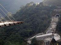 ریزش خطرناک پل در تایوان +فیلم