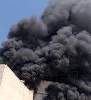 آتشسوزی ساختمانی در بزرگراه نیایش تقاطع جنت آباد +فیلم