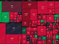 نقشه بازار سهام بر اساس ارزش معاملات/ فلزات اساسی تافته جدا بافته بازار شدند