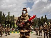رزمایش مقابله با ویروس کرونا توسط نیروی زمینی ارتش +تصاویر