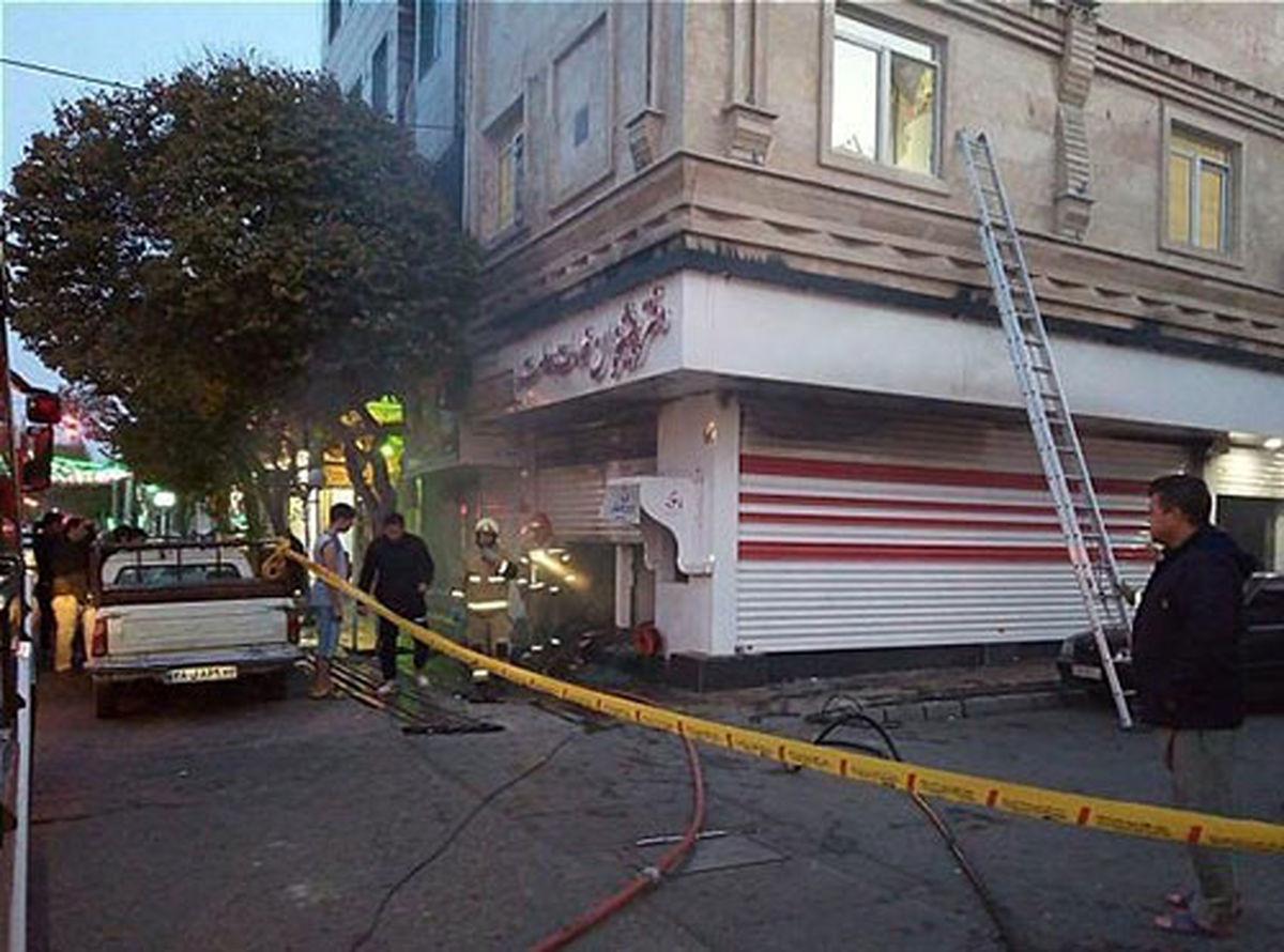 حریق دفتر پیشخوان دولت در جنوب تهران +عکس
