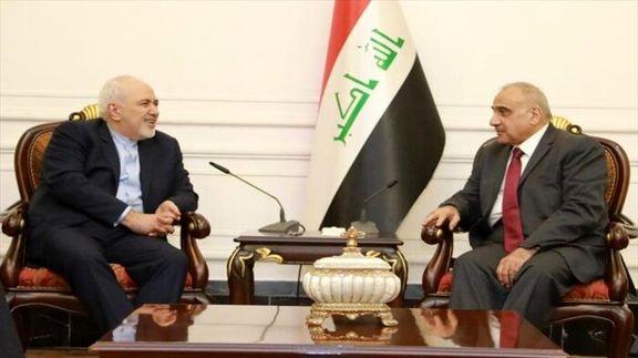 ظریف با نخست وزیر عراق دیدار کرد