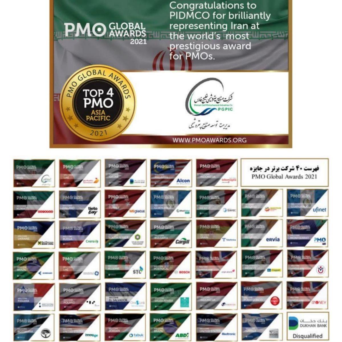 درخشش مدیریت توسعه صنایع پتروشیمی در مسابقات جهانی دفاتر مدیریت پروژه